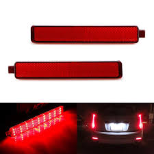 2004 Cadillac Cts Backup Light Cover Red Lens 54 Smd Led Bumper Reflector Lights For 07 13 Cadillac Cts 07 16 Gmc Acadia 08 12 Buick Enclave 05 09 Chevy Equinox As Tail Brake Rear Fog