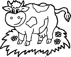 Small Picture Farm Yard Animal Cow Coloring Page Wecoloringpage