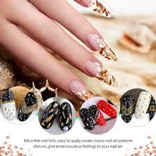 Mylar Nail Designs Teenitor 48 Boxes Nail Art Kit Including Nail Art Foil Nail Art Glass Mirror Foil Ice Mylar Shell Foil Slice Japanese Nail Art Line Strips For 3d