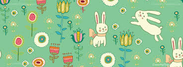 Easter Easter Flower Bunny Pattern Free Facebook Covers