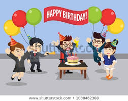 Office Birthday Birthday Celebration Office Stock Vector Royalty Free 1038462388