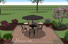 square patio designs. DIY Square Patio Design With Fire Pit | 320 Sq Ft Download Installation Plan, How-to\u0027s And Material List @Mypatiodesign.com Designs A