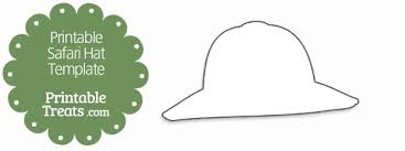 Printable Safari Hat Template Printable Treats Com