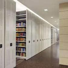 high density mobile storage system for library shelving
