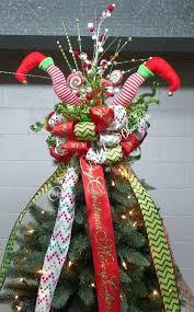 diy bow tree topper