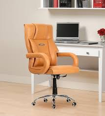 color office chairs. Buy Serene High Back Adjustable Executive Office Chair In Tan Color By Furniease Online - Chairs Furniture Pepperfry Product O