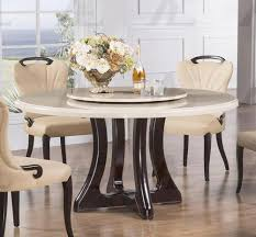 image of white marble round dining table home