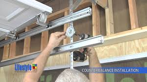 assembling the springs counterbalance system lifestyle screens garage door screen