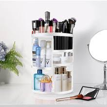 360 degree rotating makeup organizers and storage box gift for women adjule multi function cosmetic case brush holder stan