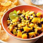 black bean and mango dip
