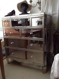antique mirrored furniture. 2x Fleur Multichest - Mirrored Furniture With Antique Pewter Finish, Crystal Effect Glass Handles E