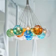 multi colored glass chandelier eccentric chandeliers