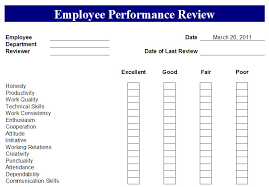 Annual Review Forms For Employees Employee Performance Review Form Employee Performance