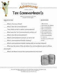 Bible Quiz for Kids: Ten Commandments | Free Download
