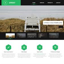 free html5 web template green website templates