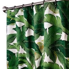 banana palm leaf fabric fabric shower curtains falling leaves