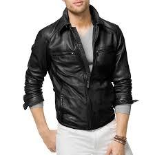 black stylish biker leather jacket