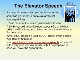 Elevator Pitch Examples For Students Perfect Your Pitch Using An Elevator Speech To Impress