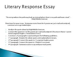 response to literature unit ppt  literary response essay