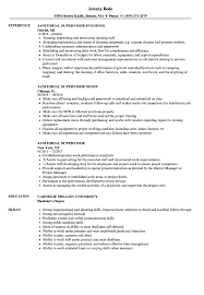 Janitorial Supervisor Resume Samples Velvet Jobs