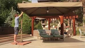 patio umbrellas with lights. Modren Umbrellas Vrienden Offset Cantilever Umbrella With Lights With Patio Umbrellas S