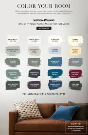 paint colors 2016. color your room / pottery barn sherwin williams paint colors 2016
