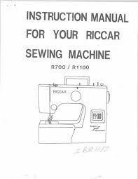 riccar vacuum repair manual pictures