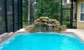 pool rock waterfall fountains design beautiful custom waterfalls for ideas cost swimming kits and b