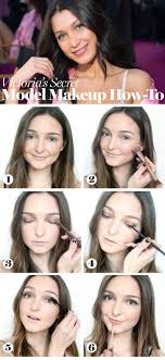 glamour i tried the victoria s secret fashion show makeup and it looked angelic as