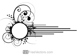 frame design vector. Delighful Design Vector Grunge Floral Circle Frame Design By 123freevectors  In