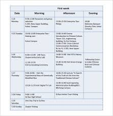 Travel Schedule 7 Travel Schedule Template Pdf Word Free Premium Templates