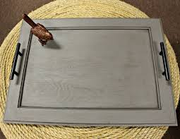Make a beautiful cabinet door serving tray from items you can find at any  ReStore.