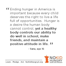 world hunger essay a great quote from the go orange for no kid hungry essay contest