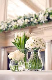 Romantic White Table Centerpieces