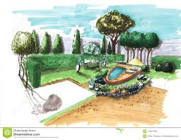 Free Garden Design Courses Landscape Architecture Plan Design In The Courtyard For