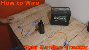 how to wire your old garden tractor w battery ignition and stator how to wire your old garden tractor w battery ignition and stator charging