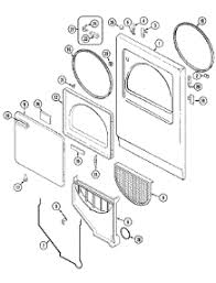 parts for crosley cdebvc dryer com 02 door parts for crosley dryer cde22b6vc from com