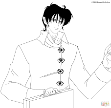 Small Picture Professor Jade from Vampire Knight Manga coloring page Free