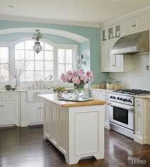 blue kitchen wall colors. Exellent Blue View In Gallery Mint And Ivory Kitchen With Dark Floor And Blue Wall Colors L