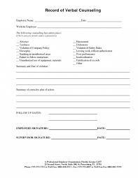 Employee Counseling Form Employee Counseling Form Disciplinary Write Up Template Sample Gs 10