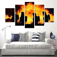 firefighter wall art 5 panels canvas prints firefighter our hero canvas painting poster home fireman decor on maltese cross firefighter metal wall art with firefighter wall art bonjourmini