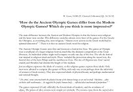 how do the ancient olympic games differ from the modern olympic  document image preview