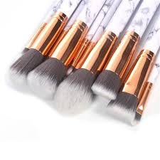 marble makeup brushes. luxe b marble makeup brushes set r