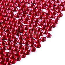 Broušené Kamínky Na Nehty Ss6 2 Mm Se Swarovski Efektem 20 Ks Garnet Red