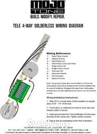 Four Way Switch Wiring Diagram Telecaster 4-Way Telecaster Switching Diagram