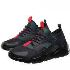 Spring Autumn Breathable Men Sneakers women Black <b>Low Cut Fly</b> ...
