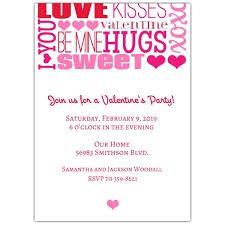 Valentines Invitations Sweet Words Valentines Day Invitations Paperstyle