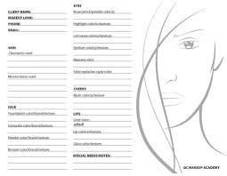 Qc Makeup Academy Online Makeup Course Face Chart Photo