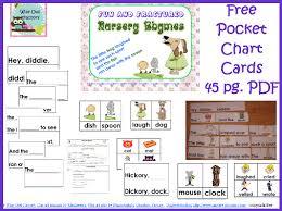 Fun Nursery Rhymes Pocket Chart Activity Free Printable By