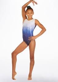 alegra blue storm gymnastics leotard 32 99
